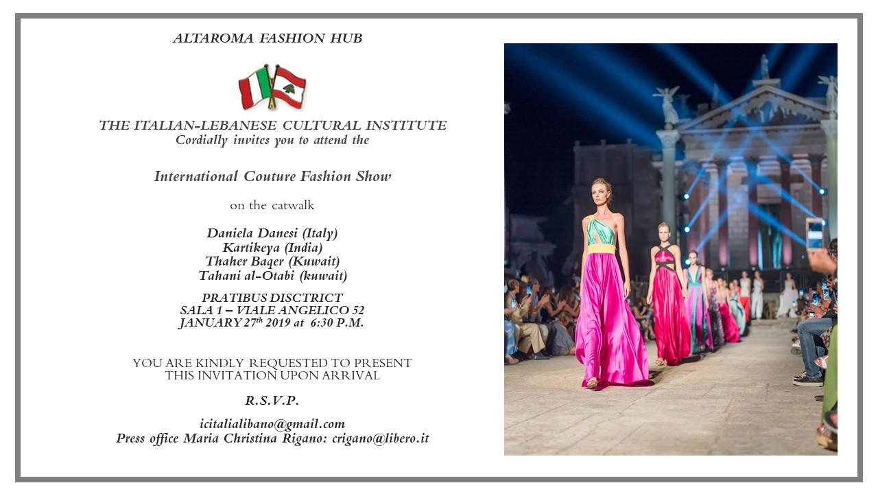 International Couture Presents At Altaroma Fashion Hub January 27th At Pratibus District Russkyklub Com